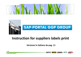 SAP-PORTAL GGP GROUP Instruction for suppliers - Stiga On-Line