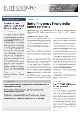 Eutekne.Info - Il Quotidiano del Commercialista