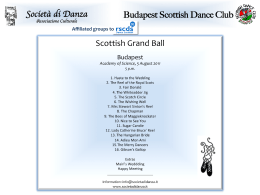 Società di Danza Budapest Scottish Dance Club