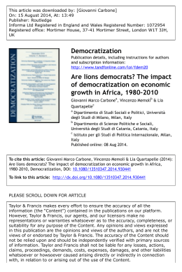 Are lions democrats? The impact of democratization on economic
