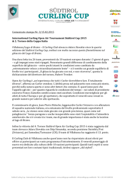 Comunicato stampa Nr. 3/15.02.2015 International Curling Open Air