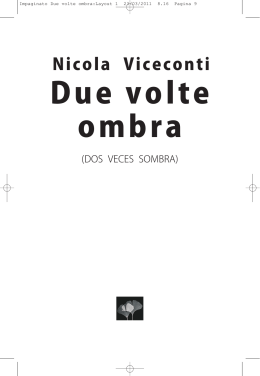 Due volte ombra - Nicola Viceconti