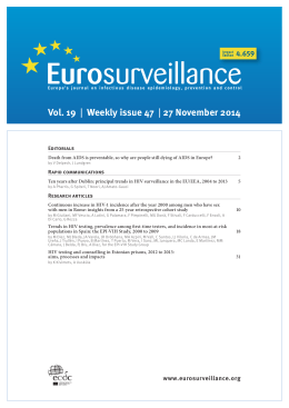 Vol. 19 | Weekly issue 47 | 27 November 2014