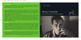 Bruno Touschek and the art of physics