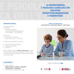 la neuropediatria e psicologia clinica dell`età evolutiva