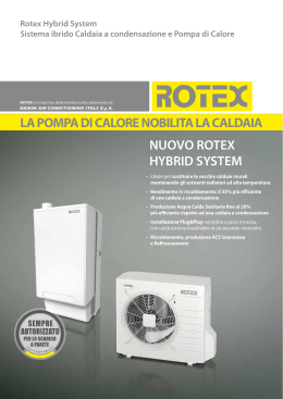 Hybrid system rotex pompa di calore caldaia a condensazione for Asciugatrici condensazione o pompa di calore