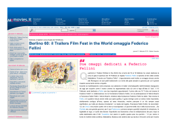 Berlino 60_il Trailers Film Fest in the World omaggia Federico Fellini