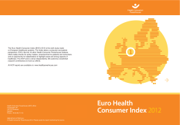 Euro Health Consumer Index