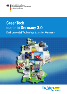 GreenTech made in Germany 3.0 - Environmental