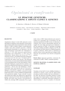 Le ipoacusie genetiche