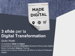 Tre sfide per la digital transformation nelle imprese