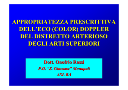 APPROPRIATEZZA PRESCRITTIVA ECODOPPLER ARTI SUPERIORI
