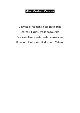 Free fashion design coloring Scaricare Figurini moda da