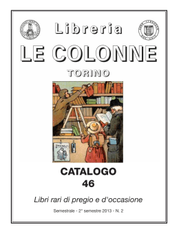 Catalogo 46 - Libreria Antiquaria Le Colonne