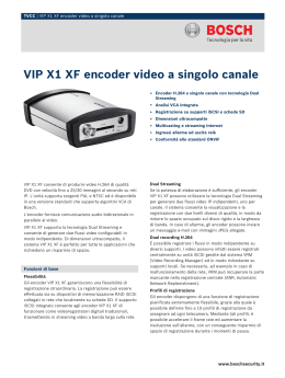 VIP X1 XF encoder video a singolo canale