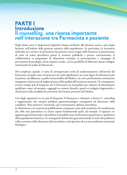 PARTE I - Counselling microambiente intestinale