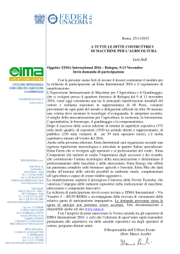 Nota informativa - Eima international