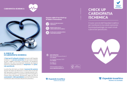 CheCk up Cardiopatia isChemiCa