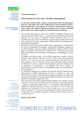 Comunicato Stampa Eima International n. 2 2014 del 4