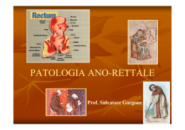Patologia anale - Università degli Studi di Messina