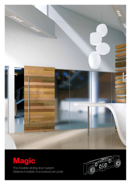 The invisible sliding door system Sistema invisibile - Euro
