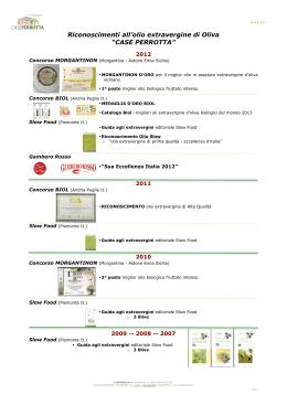 Riconoscimenti - Agriturismo Case Perrotta a8f6d1bd0cd