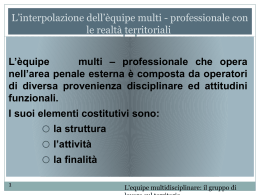 L`interpolazione dell`èquipe multi - professionale con le