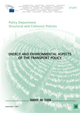 ENERGY AND ENVIRONMENTAL ASPECTS OF THE TRANSPORT