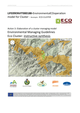 Environmental Managing Guidelines Eco Cluster