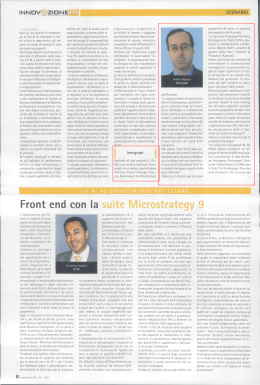 Front end con la suite Microstrategy 9