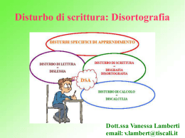 intervento in ortografia