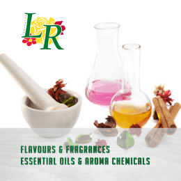 flavours & fragrances essential oils & aroma chemicals