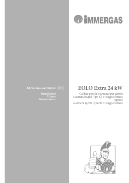 EOLO Extra 24 kW - Immergas S.p.A.
