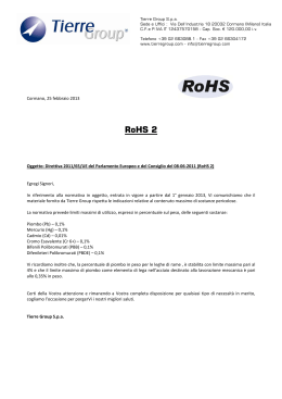 RoHS 2 - Tierre Group