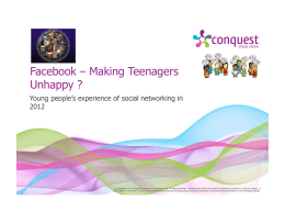 Facebook – Making Teenagers Unhappy ?