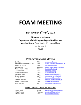 FOAM MEETING