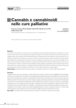 Studi Cannabis e cannabinoidi nelle cure palliative