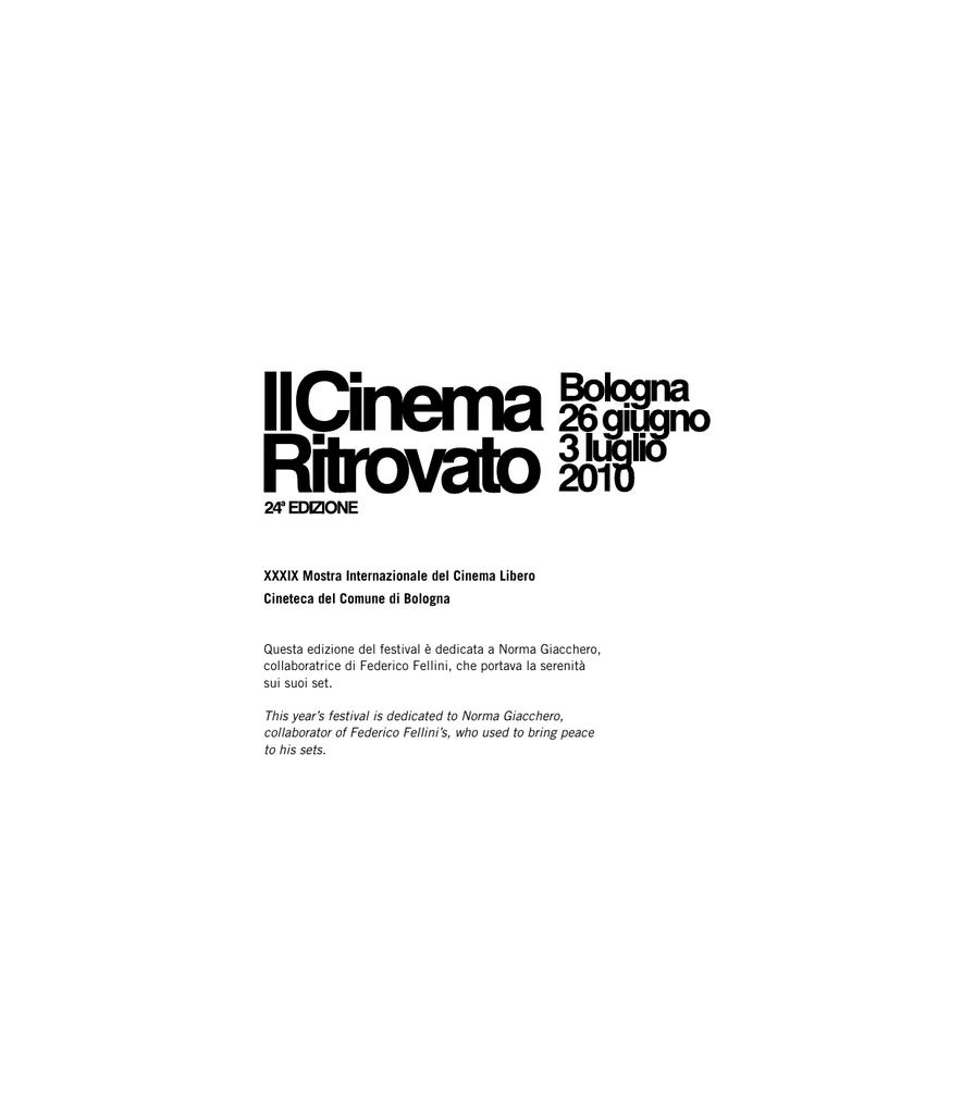 Questa edizione del festival è dedicata a Norma - Ciné e6d54280322b