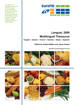 3 langual 2008 multilingual thesaurus
