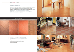 NATURAL BEAUTY OF TERRACOTTA. SanMarco floor tiles