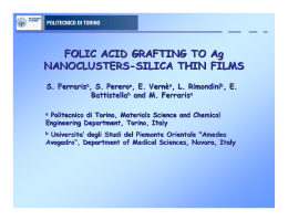 FOLIC ACID GRAFTING TO Ag NANOCLUSTERS