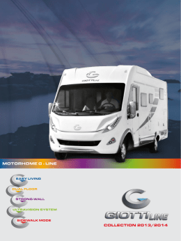 COLLECTION 2013/2014 MOTORHOME G - LINE - Giottiline G