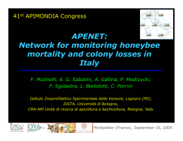 APENET: Network for monitoring honeybee mortality and colony