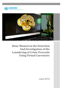 Basic Manual on the Detection And Investigation of the