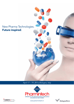 New Pharma Technologies. Future inspired.
