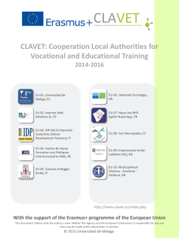 CLAVET: Cooperation Local Authorities for Vocational and
