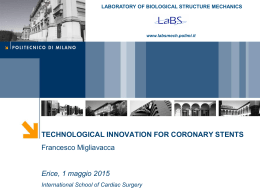 TECHNOLOGICAL INNOVATION FOR CORONARY STENTS