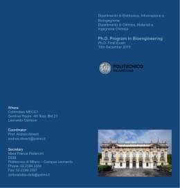 Ph.D. Program in Bioengineering