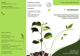 Doctorate in Chemistry, Biochemistry and Ecology of Plant