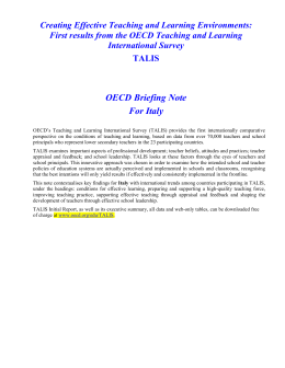 OECD Briefing Note For Italy